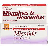 Boericke & Tafel, Migraide, формула максимальной силы от головной боли 40 таблеток