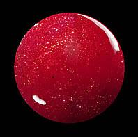 Гель-лак для  ногтей  SALON PROFESSIONAL № 153 (CША) 17мл красный с плотным  глитерным блеском