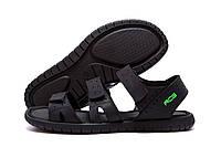 Мужские кожаные сандалии Nike ACG Black (реплика)