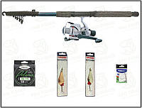 Бесплатная доставка.Набор для ловли щуки. Спининг Kalipso 2.7м з тестом 30-60г, в полном сборе(№114)