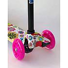 Самокат детский Scooter Pro 030 с подсветкой колес | Розовый, фото 2