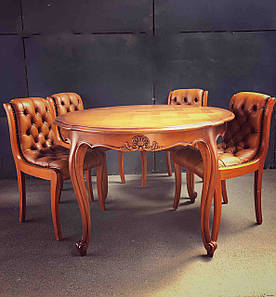 Стулья кожаные деревянные «Витоль»