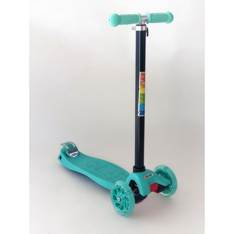 Самокат дитячий Scooter Pro 036 з підсвічуванням коліс   Бірюзовий