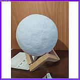 Лампа луна 3D Moon Lamp Настольный светильник луна, фото 3