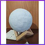 Лампа луна 3D Moon Lamp Настольный светильник луна, фото 7