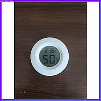 Компактный термометр-гигрометр цифровой круглый белый, фото 1