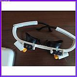 Бинокулярные очки с светодиодной подсветкой 9892 RD белые, фото 4