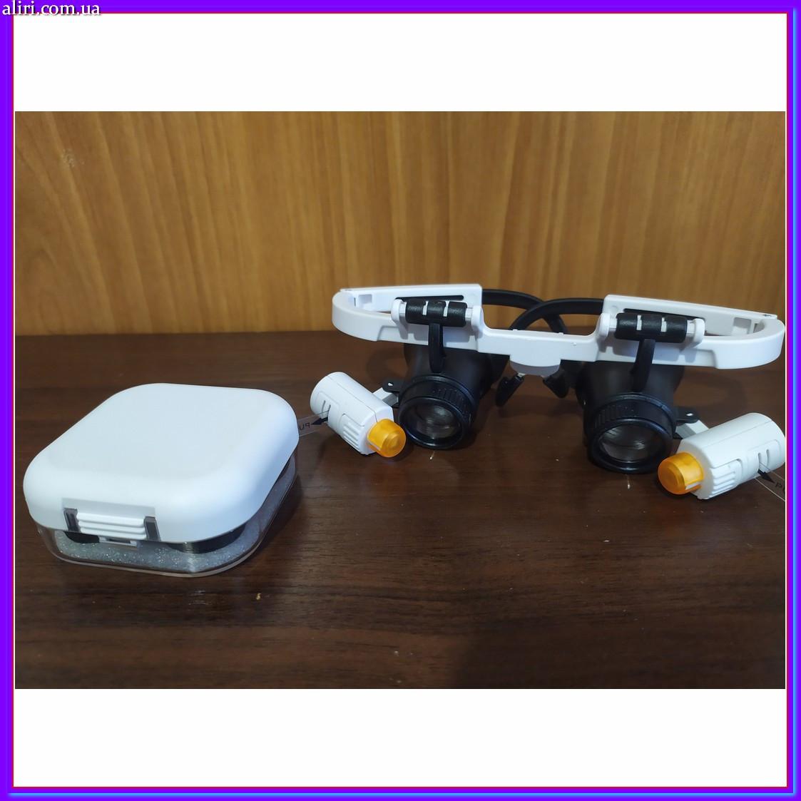 Бинокулярные очки с светодиодной подсветкой 9892 RD белые
