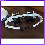 Бинокулярные очки с светодиодной подсветкой 9892 RD белые, фото 7
