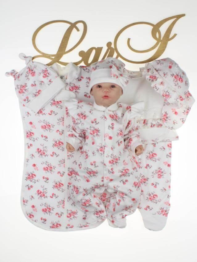 """Комплект для новорожденных девочек """"Rose"""" - 7 предметов"""