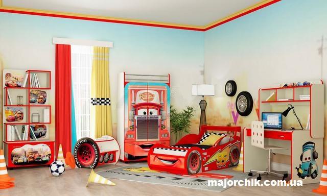 """Детская комната """"Молния Маквин"""" красная МакКвин McQueen Тачки"""