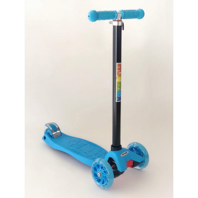 Самокат детский Scooter Pro 036 с подсветкой колес | Голубой