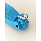 Самокат дитячий Scooter Pro 036 з підсвічуванням коліс | Блакитний, фото 3
