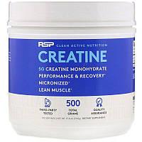 RSP Nutrition, Micronized Creatine Powder, моногидрат креатина, тонкодисперсный порошок креатина, 5 г, 500г (17,6 унций)