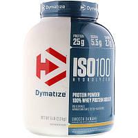 Dymatize Nutrition, ISO 100 100%-ый белковый сывороточный изолят, банановый вкус, 2,27 кг