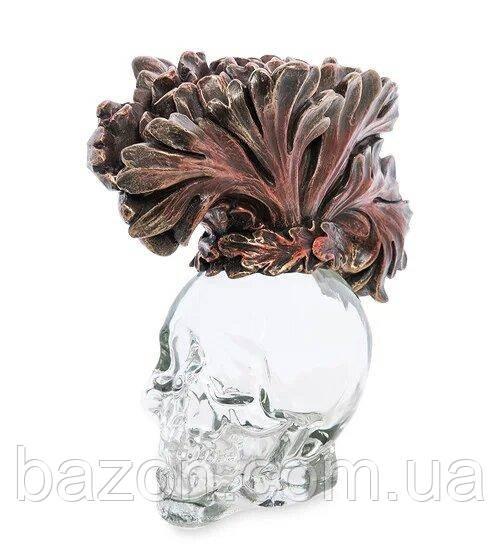 Статуэтка-флакон Veronese Стеклянный череп 13 см