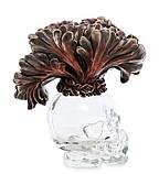 Статуэтка-флакон Veronese Стеклянный череп 13 см, фото 4