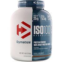 Dymatize Nutrition, ISO-100, 100%-ный сывороточный изолят белка, мягкое брауни,2,27 кг