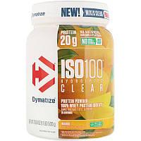 Dymatize Nutrition, ISO100 Hydrolyzed Clear, 100% изолят сывороточного протеина, «Манго», 500 г (1,1 фунта)
