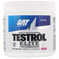 GAT, Testrol Elite, мышечная активность и мужское здоровье, безудержная малина, 174г (6,1унции)