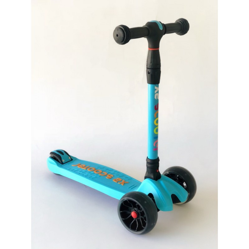 Самокат детский Scooter HH24A с подсветкой колес | Голубой