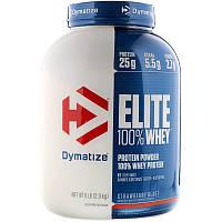 Dymatize Nutrition, Элитный 100% сывороточный протеин, клубничный вкус, 2.27 кг