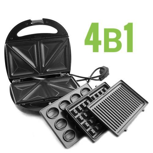 Гриль, бутербродница 4в1 LIVSTAR LSU-1219 со съемными формами, сендвичница, вафельница, тостер, орешница