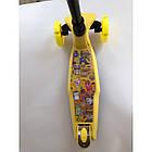 Самокат детский Scooter MG 36 с подсветкой колес | Желтый, фото 2