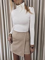 Женская замшевая мини юбка