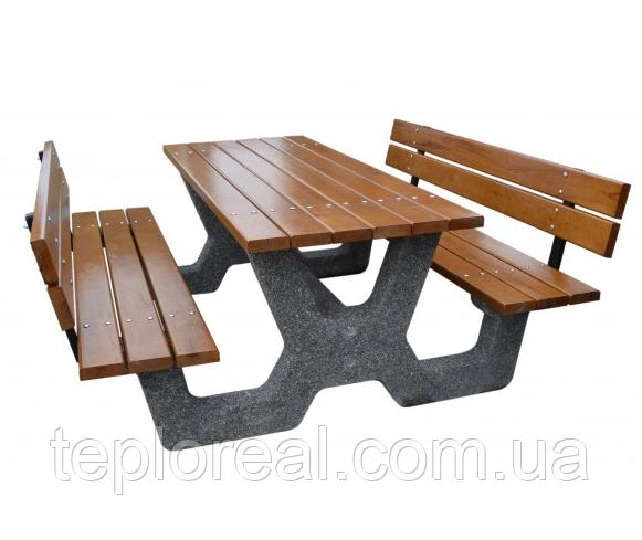 Стол садовый «Гарден» комплект со спинкой