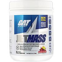 GAT, Jetmass, быстродействующий креатиновый комплекс для увеличения мышечной массы, клубничный лимонад, 708г