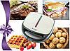 Бутербродница гриль 4в1 LIVSTAR LSU-1219 со съемными формами, сендвичница, вафельница, тостер, орешница, фото 7