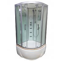 Гидромассажный бокс Veronis 90х90 см, BV-5-90 White, стекло прозрачное, поддон высокий