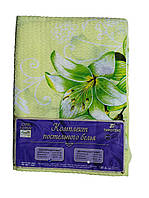 Постельное белье Евро размер Жатка Тирасполь Зеленые цветы