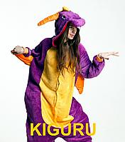 Фиолетовый дракон Спиро пижама кигуруми