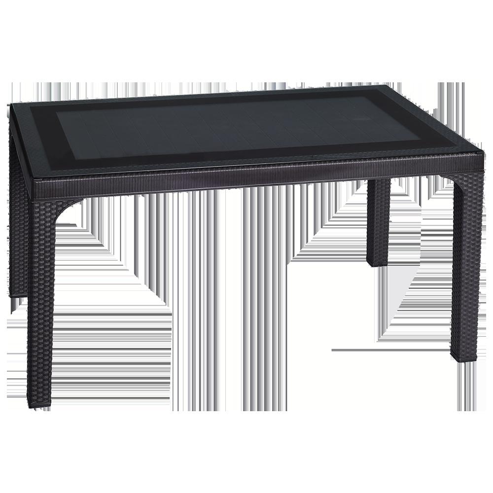 Стол под ротанг Irak Plastik 80x140 темно-коричневый