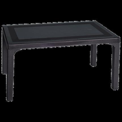 Стол под ротанг Irak Plastik 80x140 темно-коричневый, фото 2