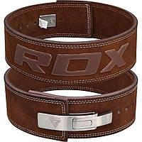 Пояс для тяжелой атлетики кожаный RDX Elite XL коричневый