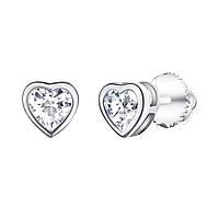"""Серебряные сережки с камнями """"1457"""""""
