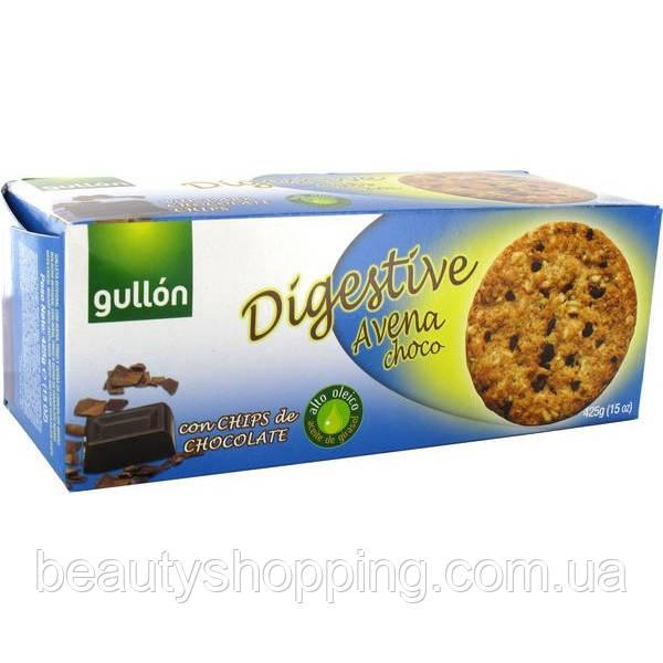 Овсяное печенье с кусочками шоколада Digestive choco avena 425g Gullon Испания