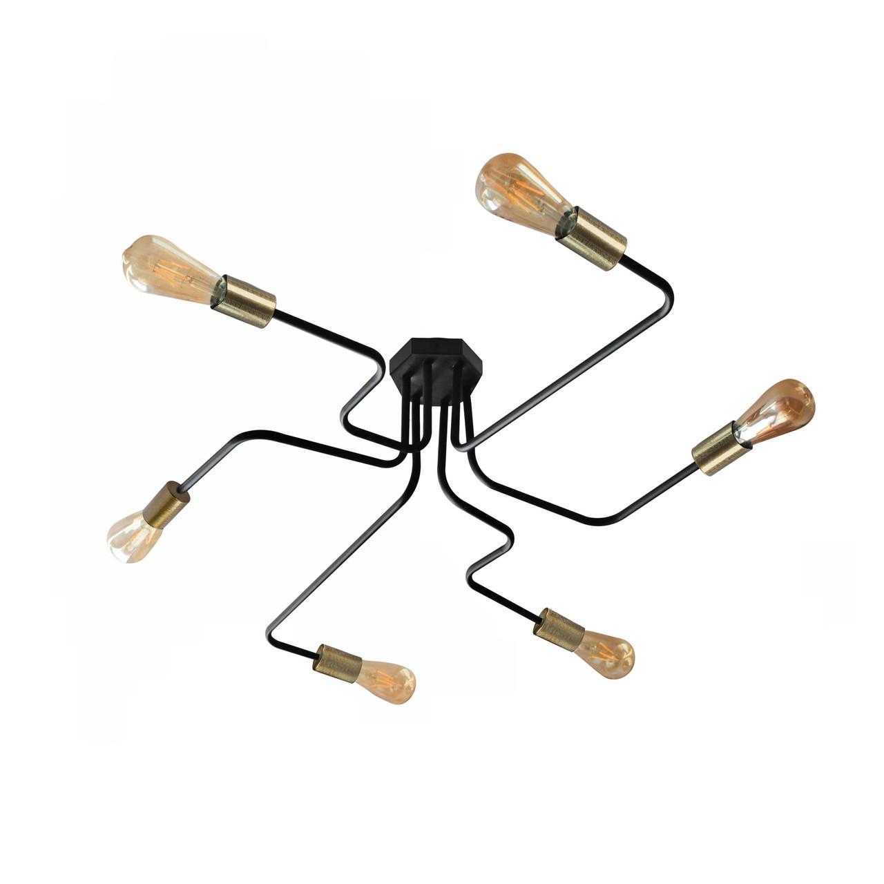 Люстра паук c бронзовыми патронами MSK Electric NL 10084/6 BK+BN  Микросхема