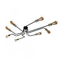 Люстра павук з бронзовими патронами MSK Electric NL 13060/8 BK+BN Мікросхема