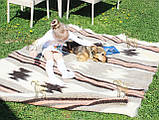 Карпатський ліжник, вовняний плед ЗОРЕПАД 150*210, фото 2