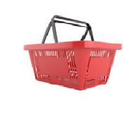 Корзинки покупательские. Пластиковые корзинки в магазин. Корзины для покупателей в магазин