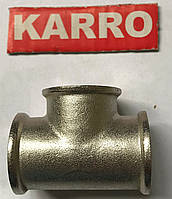 """Тройник 1/2"""" ВВВ Karro (никель)"""