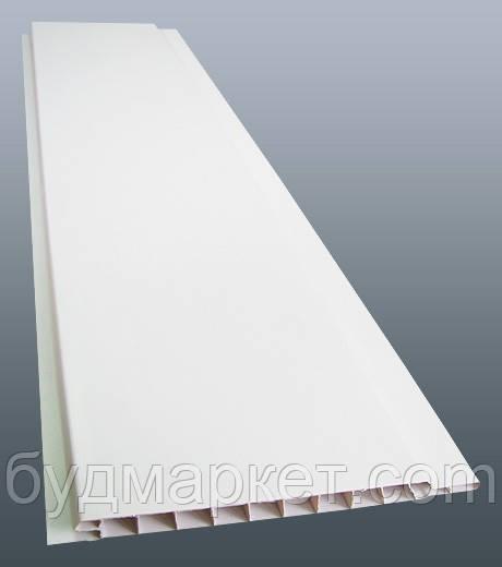 Панель пластик  Белый 6,0м*0,1м*8мм  РИФ (упак.10 шт=6 кв. м)