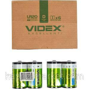 Батарейка Videx Alkaline LR20, D, лужна, ціна за 1 шт.