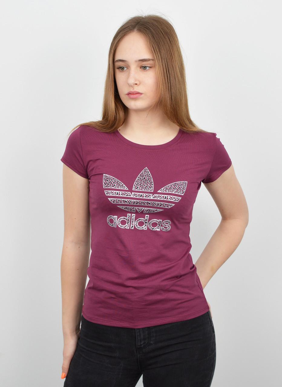 Спортивная женская футболка оптом V0120 фуксия
