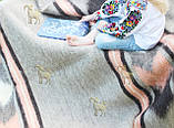 Карпатський ліжник, вовняний плед МРІЯ 150*210, фото 4