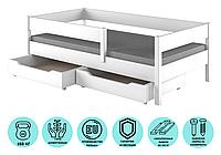 Детская подростковая кровать белая односпальная LukDom Mix 180х90